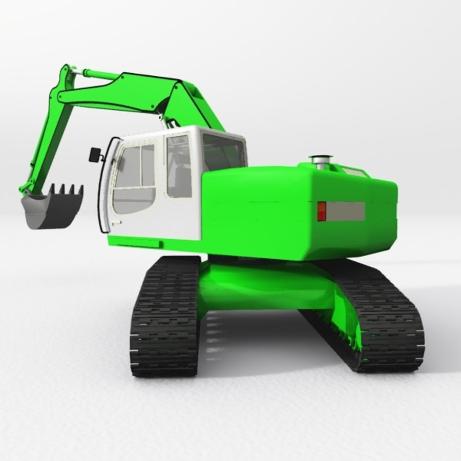 Excavator construction machine royalty-free 3d model - Preview no. 4