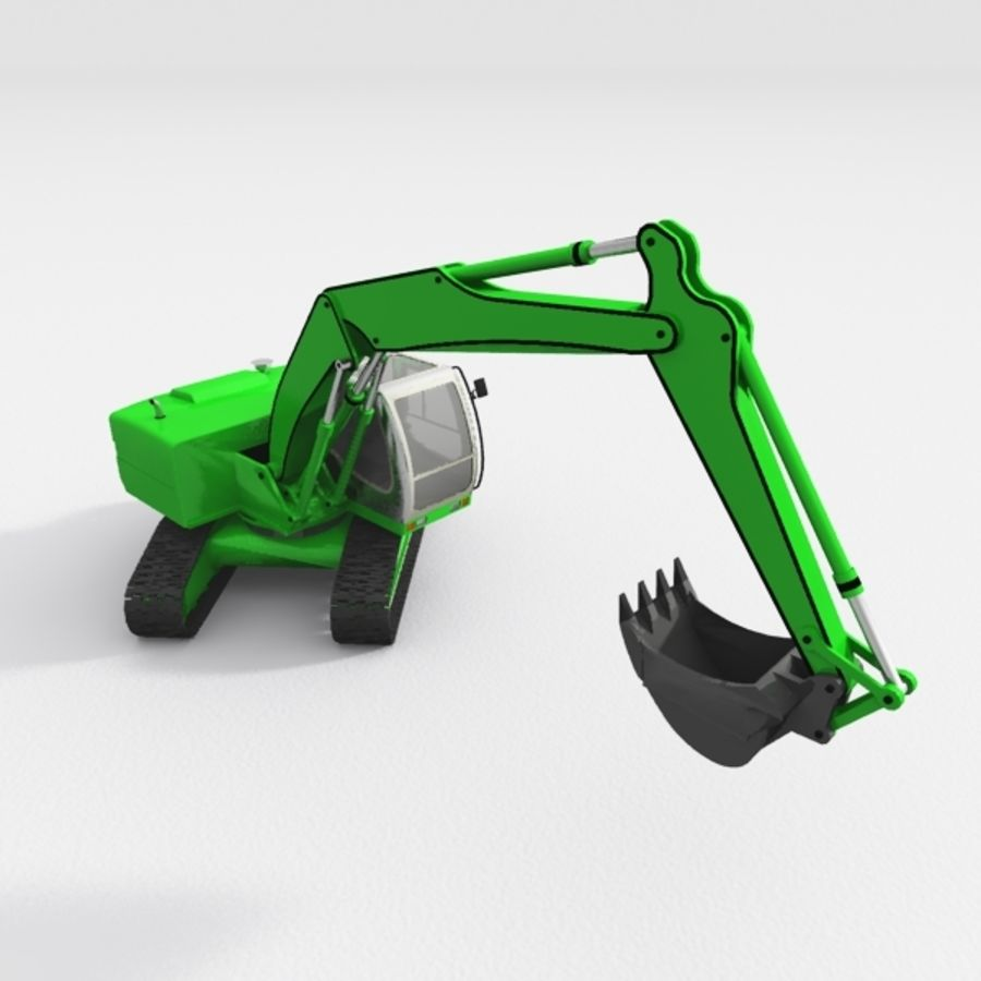 Excavator construction machine royalty-free 3d model - Preview no. 3