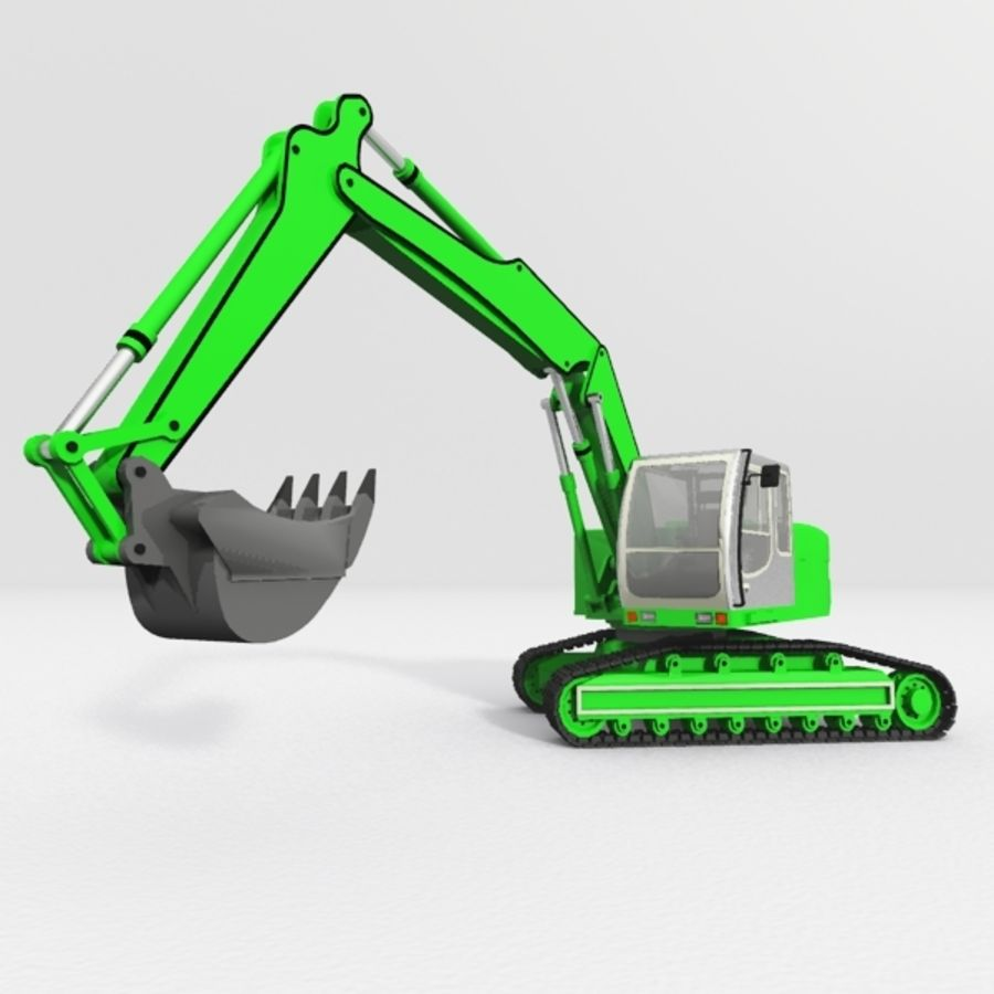 Excavator construction machine royalty-free 3d model - Preview no. 1