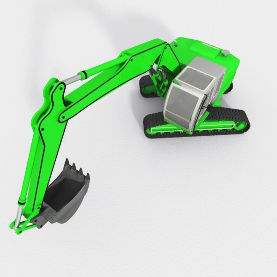 Excavator construction machine royalty-free 3d model - Preview no. 2