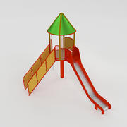 Tower With Slide 3d model