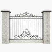 Wrought Iron Fence 6 3d model