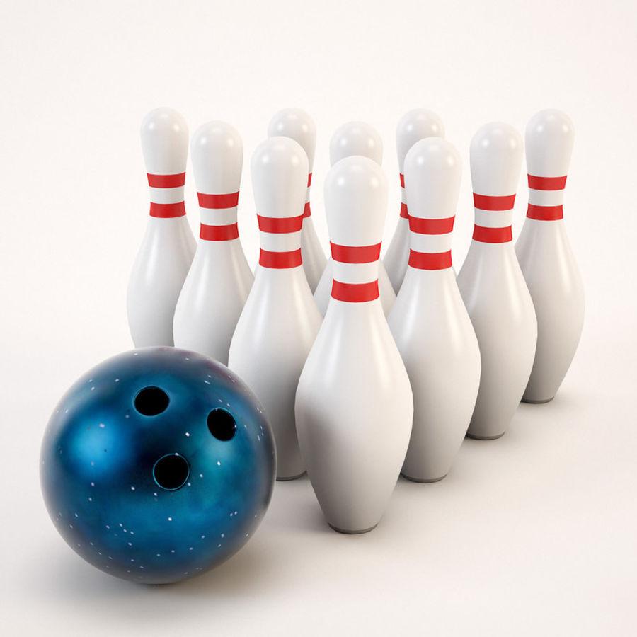 Bowling Ball&Pins royalty-free 3d model - Preview no. 3