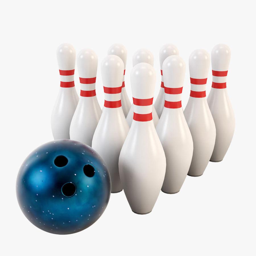 Bowling Ball&Pins royalty-free 3d model - Preview no. 1