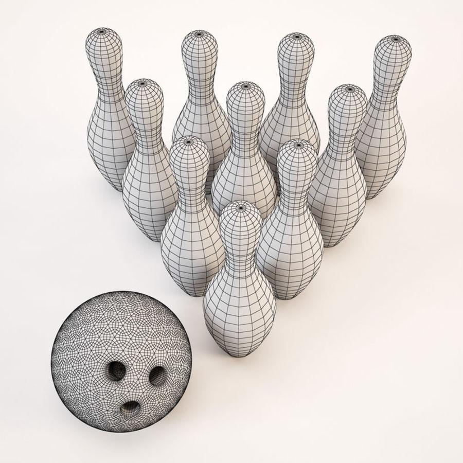Bowling Ball&Pins royalty-free 3d model - Preview no. 7