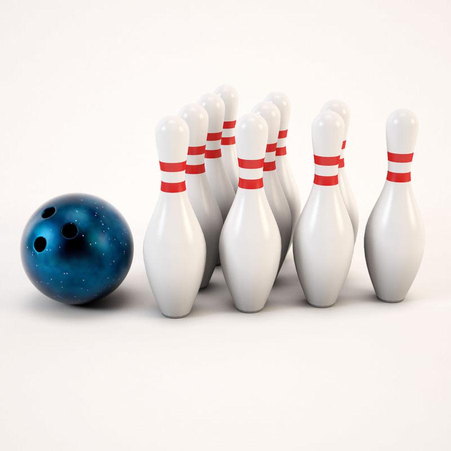 Bowling Ball&Pins royalty-free 3d model - Preview no. 8