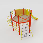Tower with Slide 4 3d model