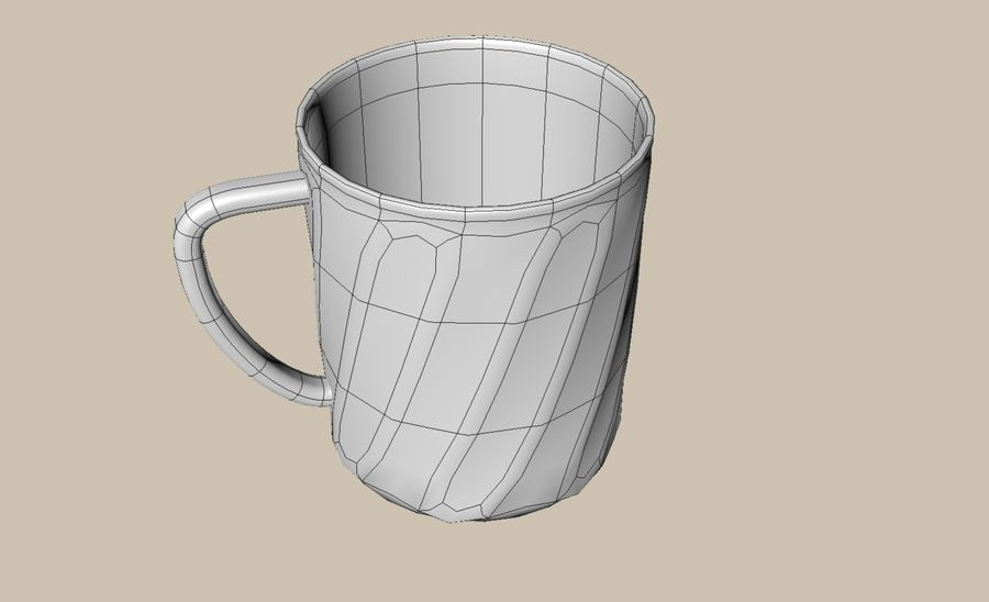 Cup royalty-free 3d model - Preview no. 3