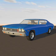 1968 Chevelle SS Muscle Car: C4D Model 3d model