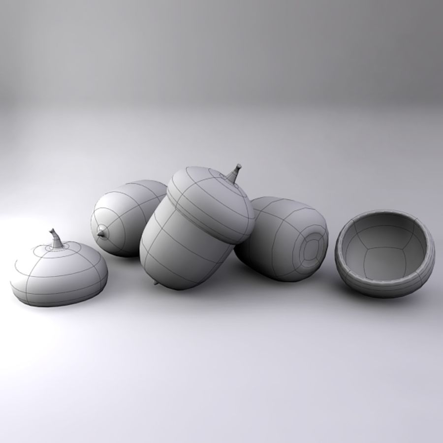 도토리 royalty-free 3d model - Preview no. 5