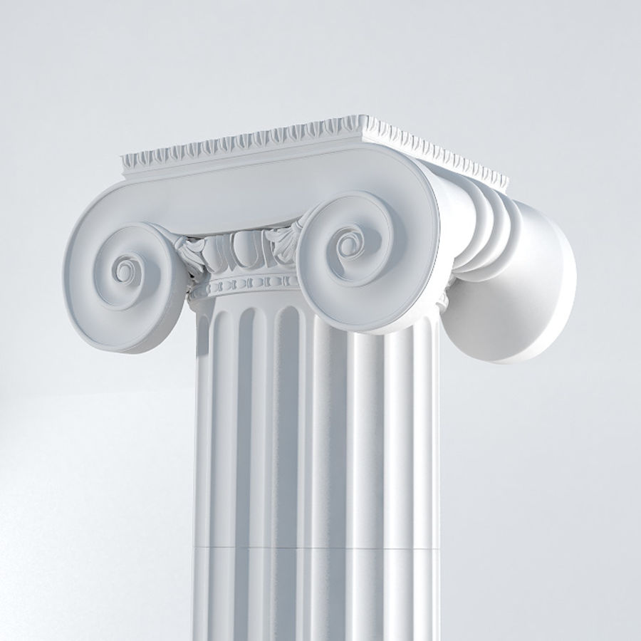 Ionic Column royalty-free 3d model - Preview no. 4