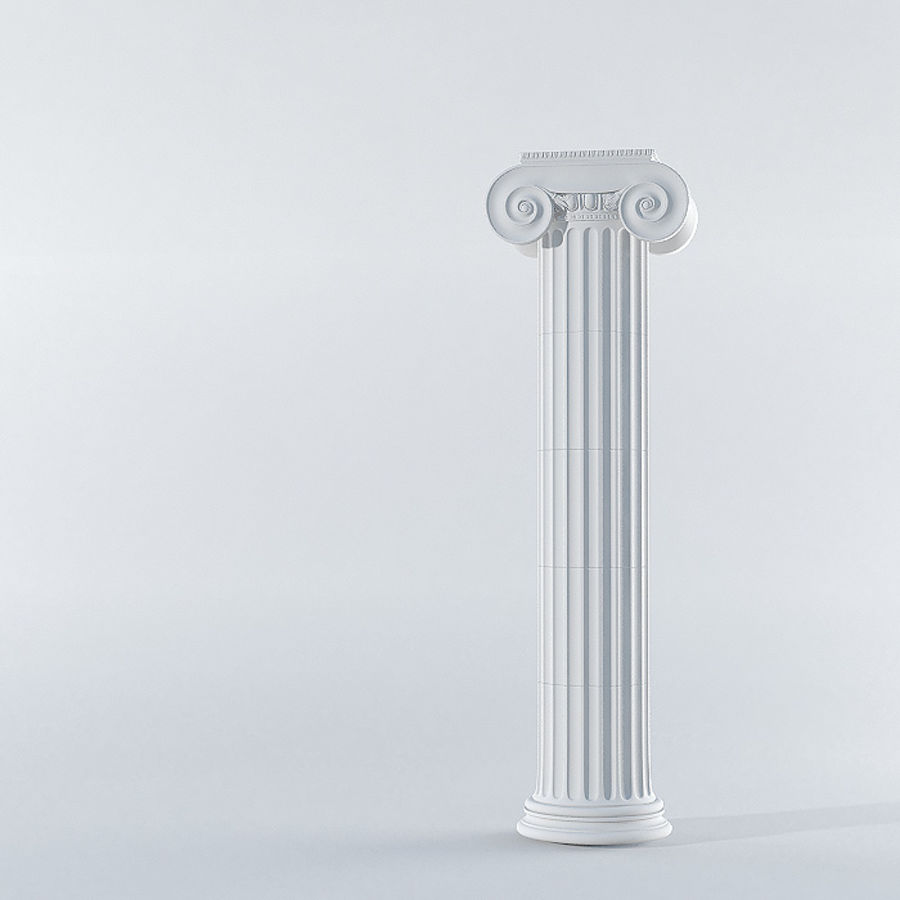 Ionic Column royalty-free 3d model - Preview no. 1