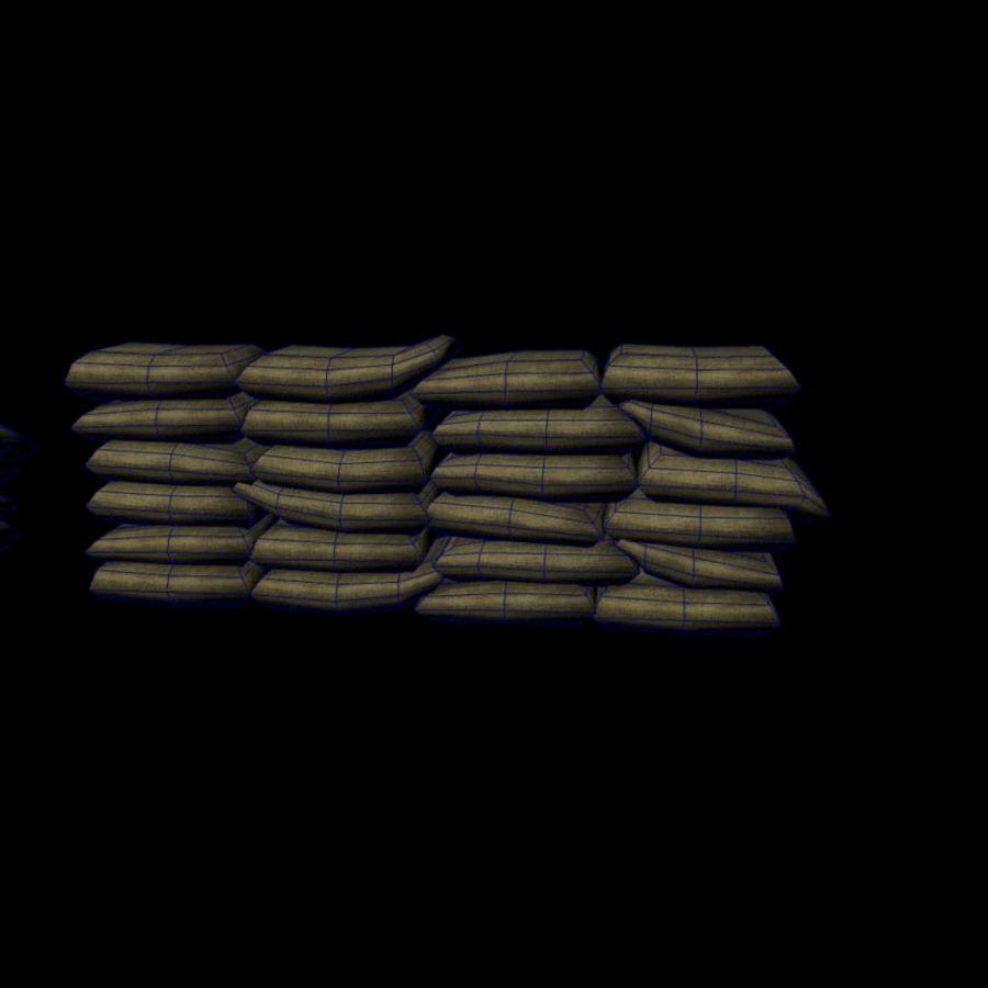 Sandsäcke royalty-free 3d model - Preview no. 7