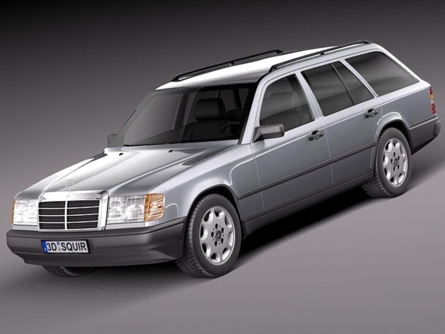 mercedes benz e class w124 kombi 3d model 99 obj max. Black Bedroom Furniture Sets. Home Design Ideas