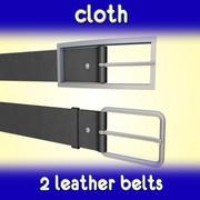 Leather belt 3d model