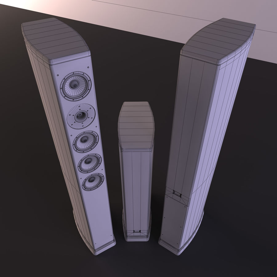 Speakers royalty-free 3d model - Preview no. 8