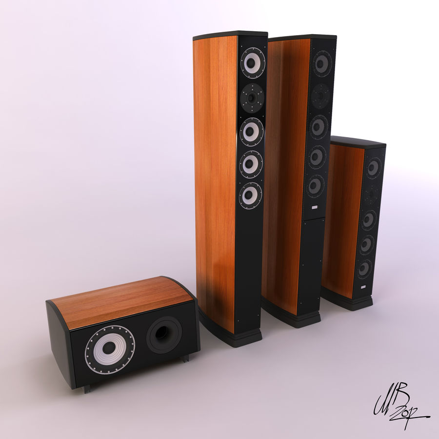 Speakers royalty-free 3d model - Preview no. 1