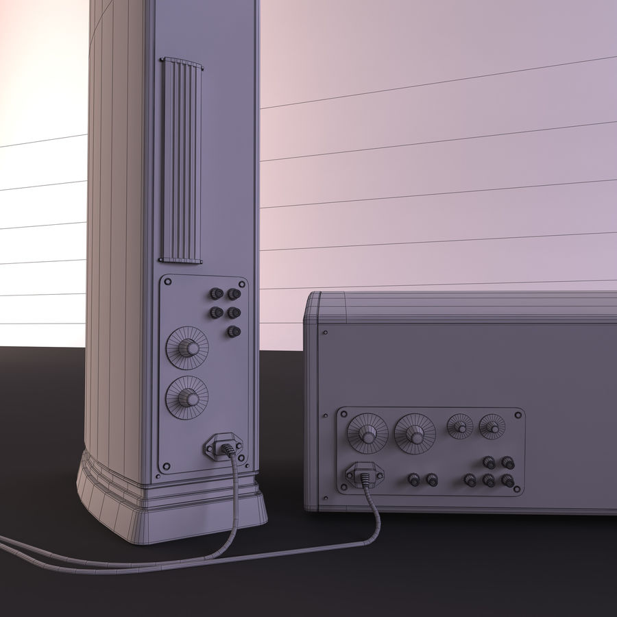 Speakers royalty-free 3d model - Preview no. 10