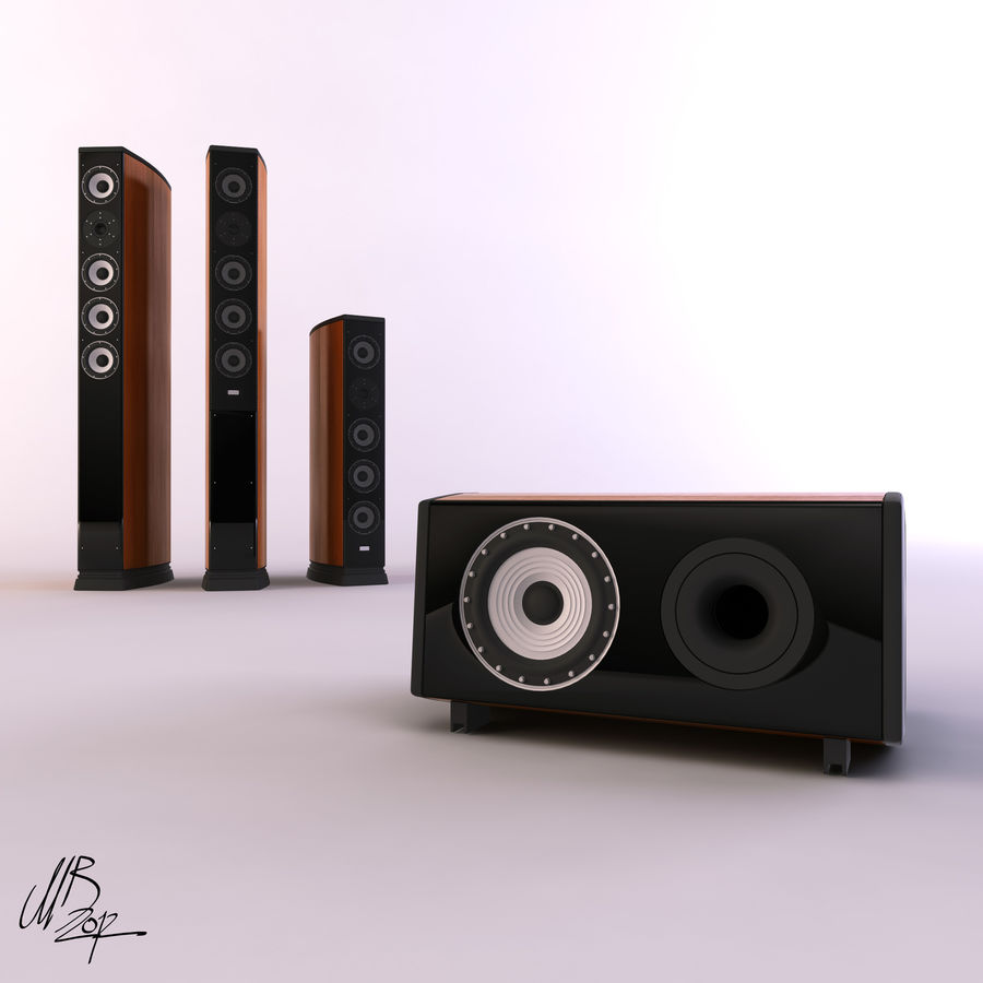 Speakers royalty-free 3d model - Preview no. 4