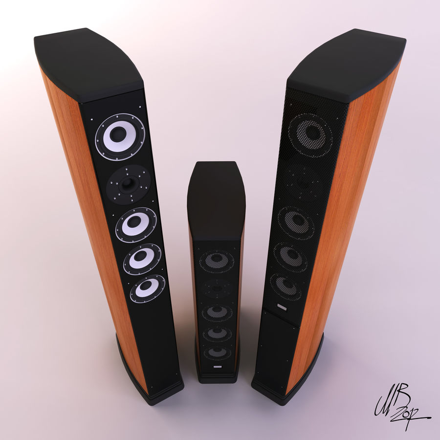 Speakers royalty-free 3d model - Preview no. 7
