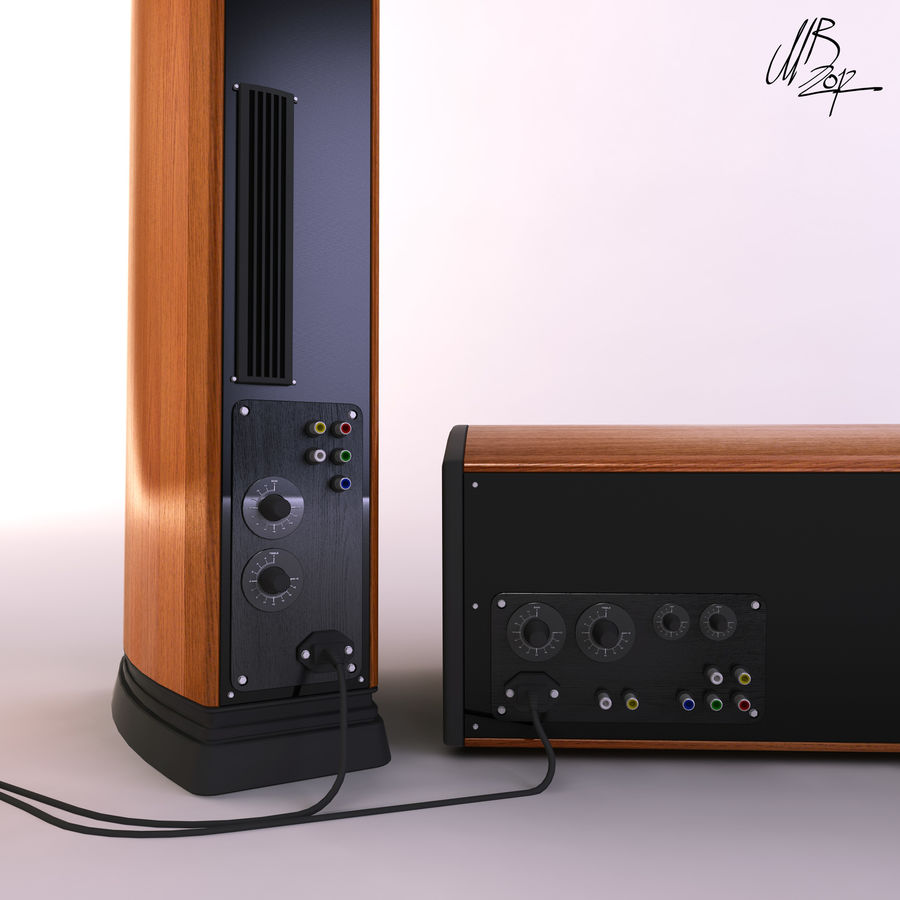 Speakers royalty-free 3d model - Preview no. 9
