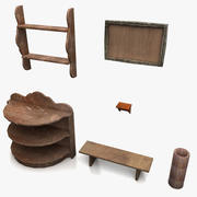 Older Simple Shelves Collection (2) 3d model