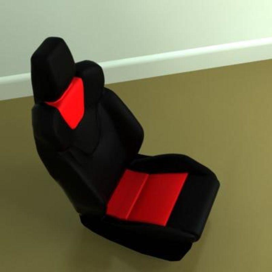 car seat royalty-free 3d model - Preview no. 5