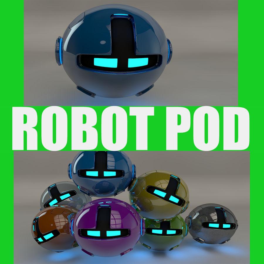Blue Robot Pod V2 royalty-free 3d model - Preview no. 1