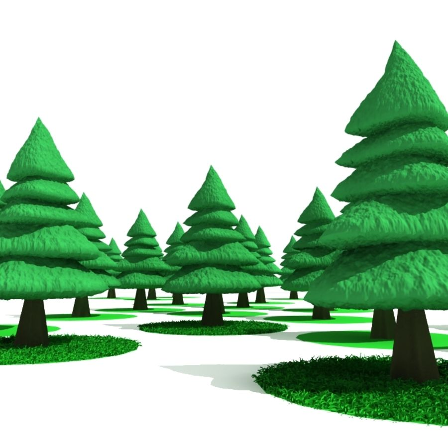 Tree - Conifer royalty-free 3d model - Preview no. 5