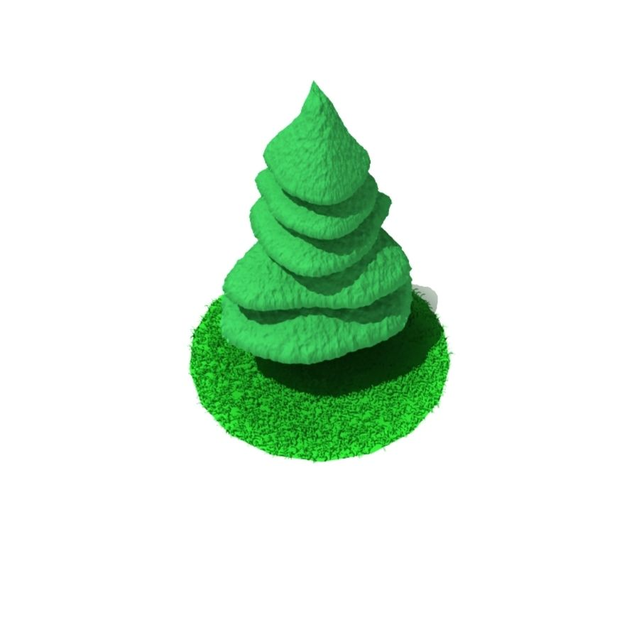 Tree - Conifer royalty-free 3d model - Preview no. 4