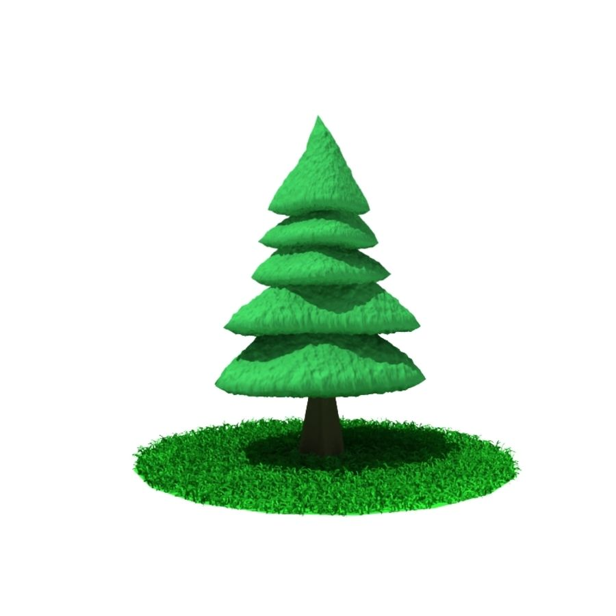 Tree - Conifer royalty-free 3d model - Preview no. 2