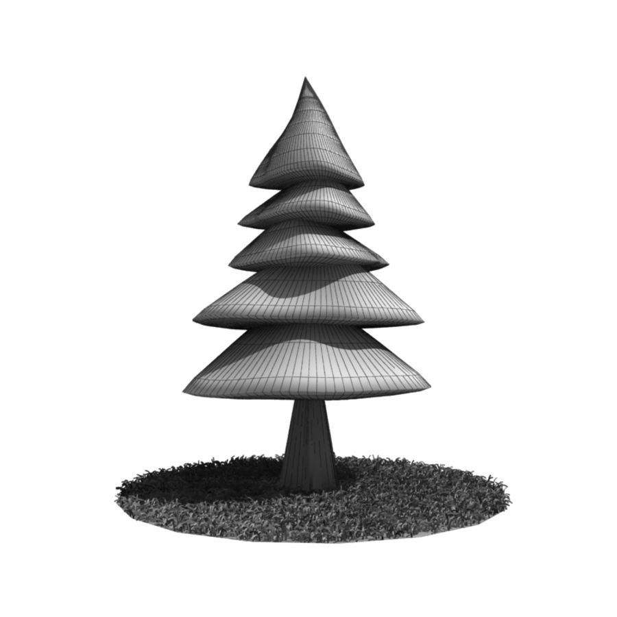 Tree - Conifer royalty-free 3d model - Preview no. 6