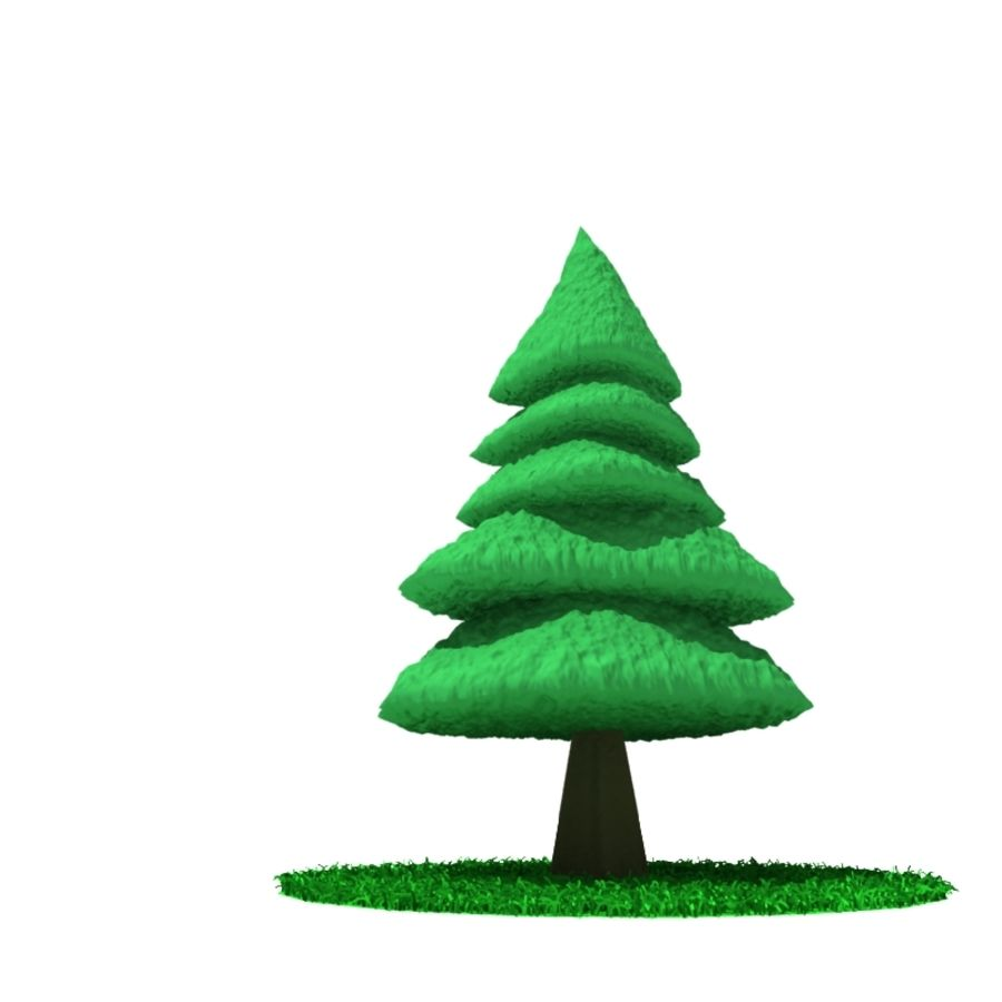 Tree - Conifer royalty-free 3d model - Preview no. 3