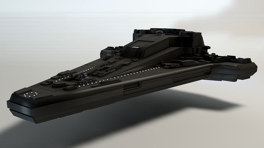 Star ship 2.0 royalty-free 3d model - Preview no. 2