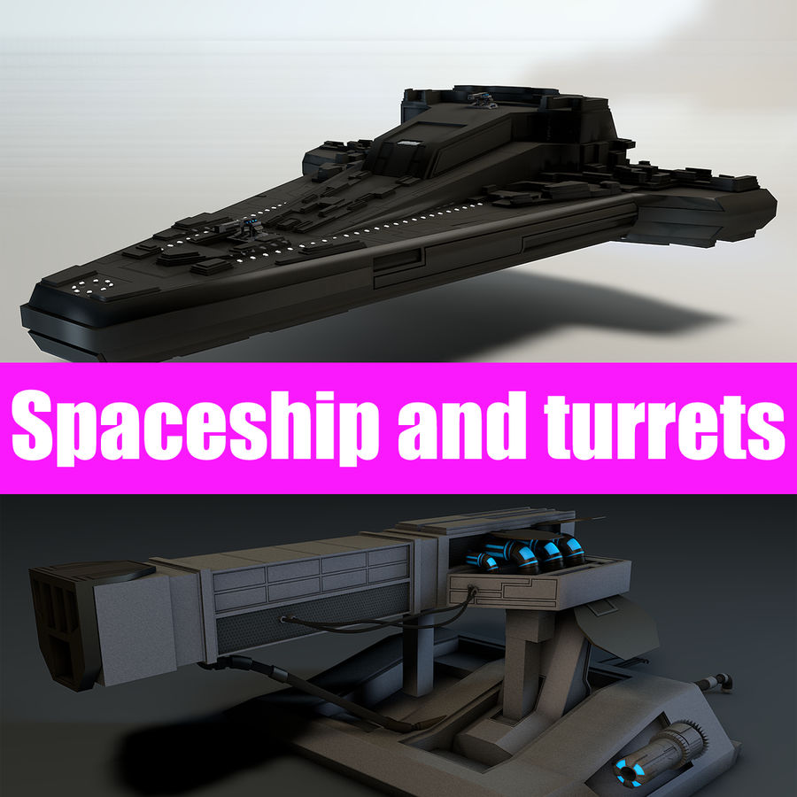 Star ship 2.0 royalty-free 3d model - Preview no. 1