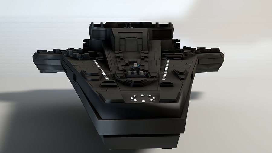 Star ship 2.0 royalty-free 3d model - Preview no. 3