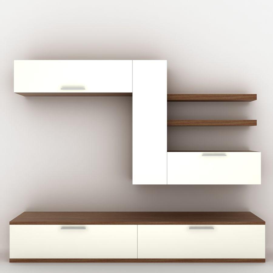 tv unit royalty-free 3d model - Preview no. 2