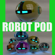 Yellow Robot Pod V2 3d model