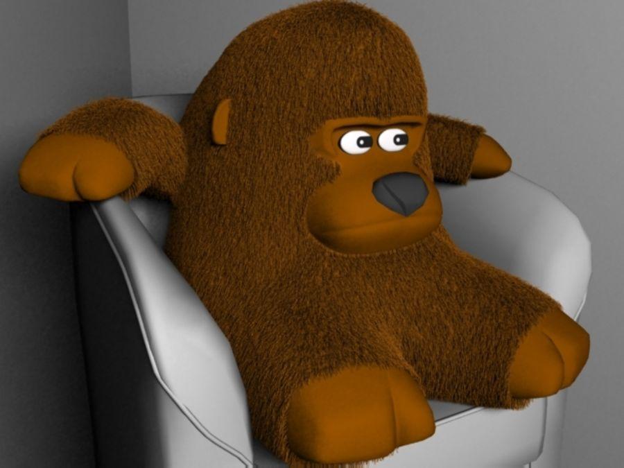 Stuffed monkey royalty-free 3d model - Preview no. 1