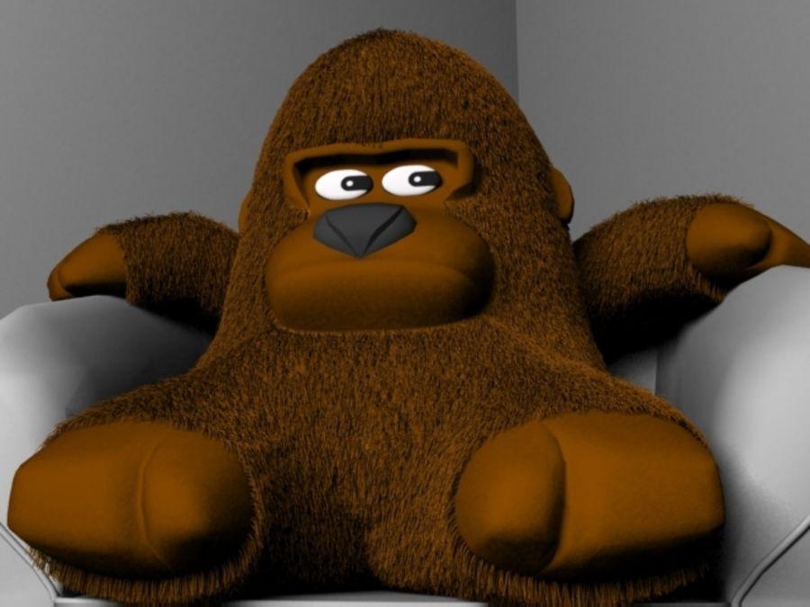 Stuffed monkey royalty-free 3d model - Preview no. 3