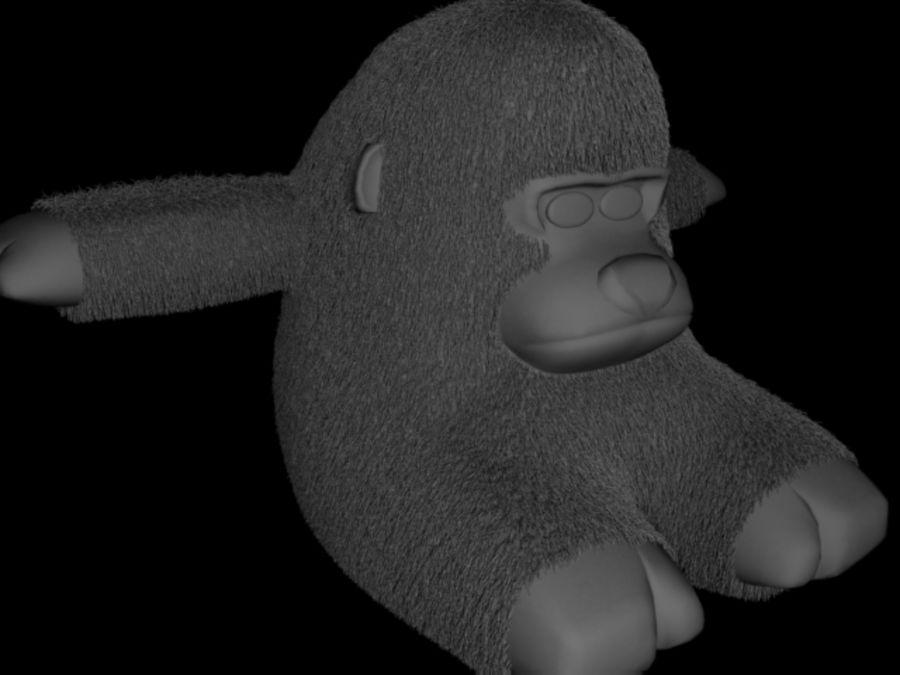 Stuffed monkey royalty-free 3d model - Preview no. 5