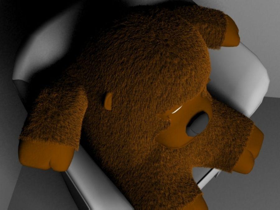 Stuffed monkey royalty-free 3d model - Preview no. 4