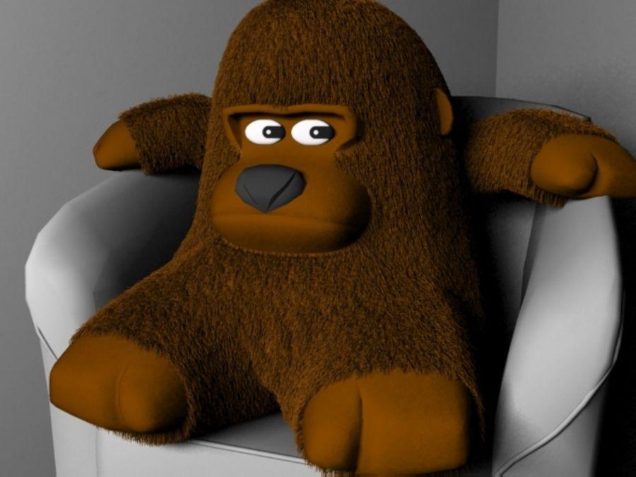 Stuffed monkey royalty-free 3d model - Preview no. 2