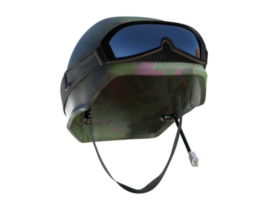 Tarnung Armee Helm und Visiere royalty-free 3d model - Preview no. 1