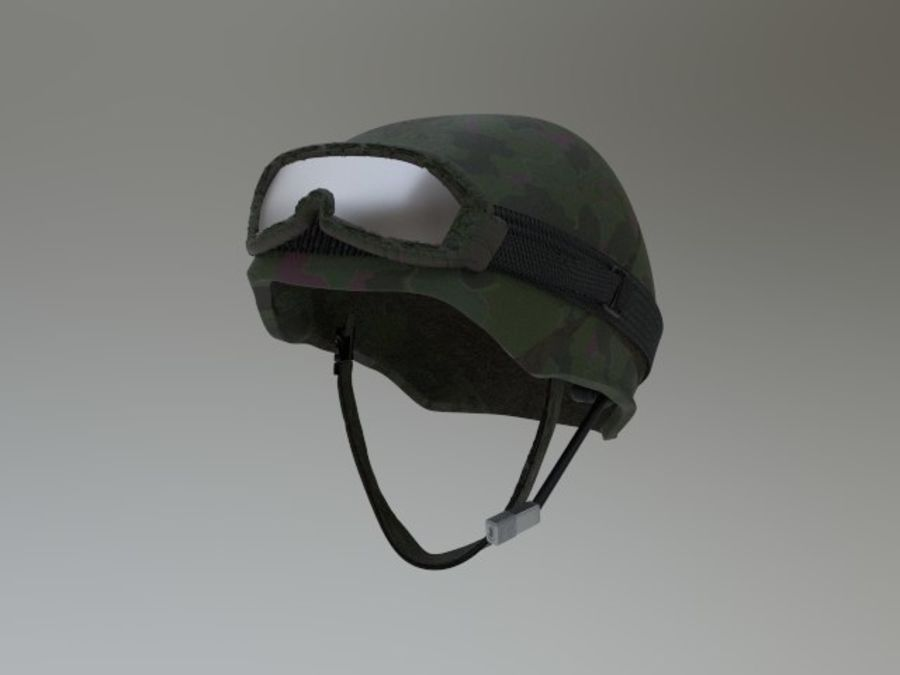 Tarnung Armee Helm und Visiere royalty-free 3d model - Preview no. 4