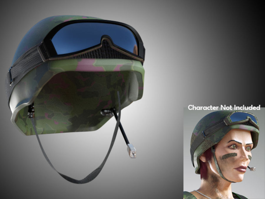 Tarnung Armee Helm und Visiere royalty-free 3d model - Preview no. 5