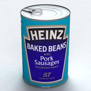 CANNED FOOD - BEANS 3d model
