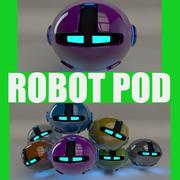 Pink Robot Pod V2 3d model
