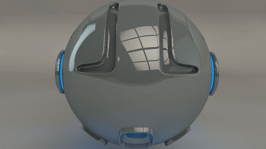 Green Robot Pod V2 royalty-free 3d model - Preview no. 3