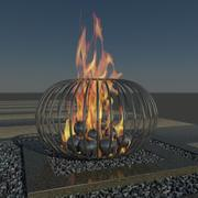 Fire Sculpture 3d model